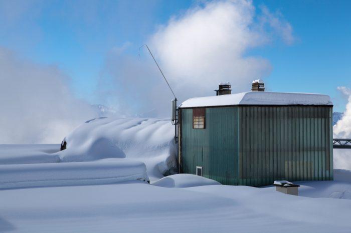 Snow swept hut - Crans Montana, Switzerland