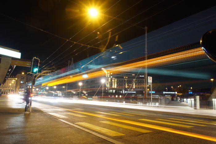 Lausanne at night - Switzerland