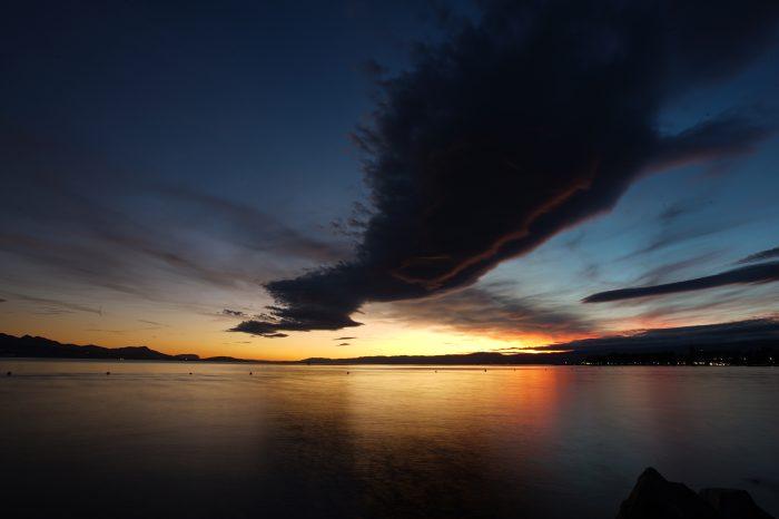 Sunset in Lausanne 1 - Lake Geneva, Switzerland